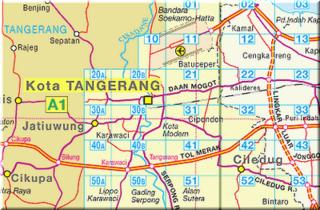 Peta Jalan Kota Tangerang